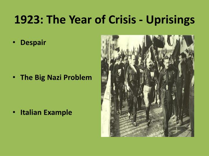 1923: The Year of Crisis - Uprisings