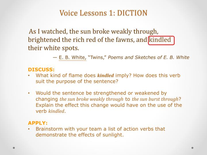 Voice Lessons 1: DICTION