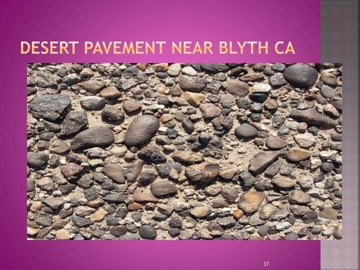 Desert Pavement near Blyth CA