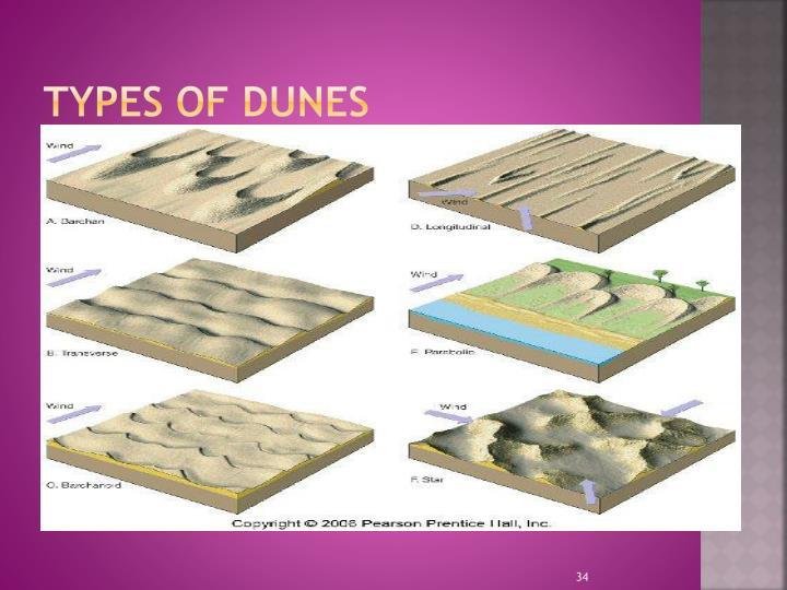 Types of Dunes