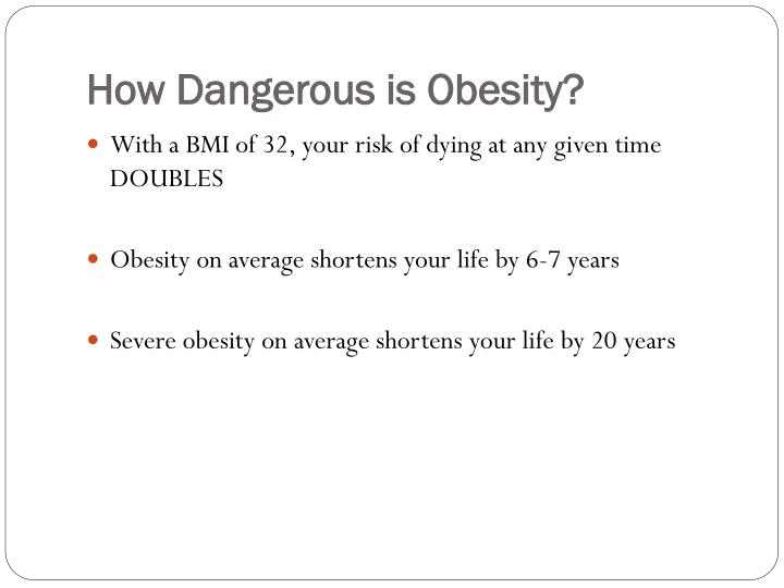 How Dangerous is Obesity?