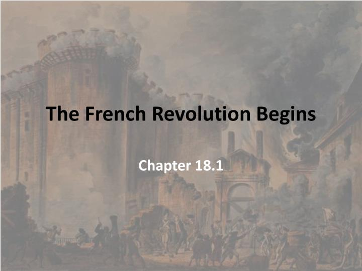 the french revolution begins n.