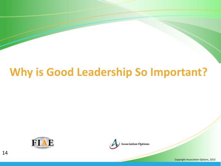 Why is Good Leadership So Important?