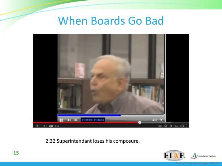 When Boards Go Bad