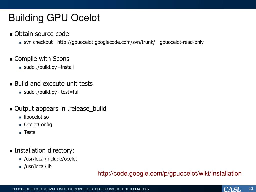PPT - Overview of Ocelot: architecture PowerPoint