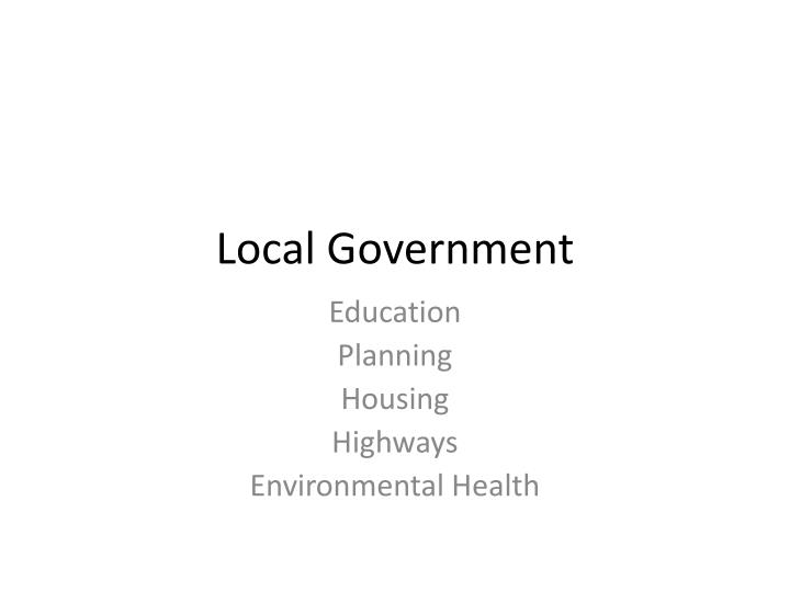 local government n.