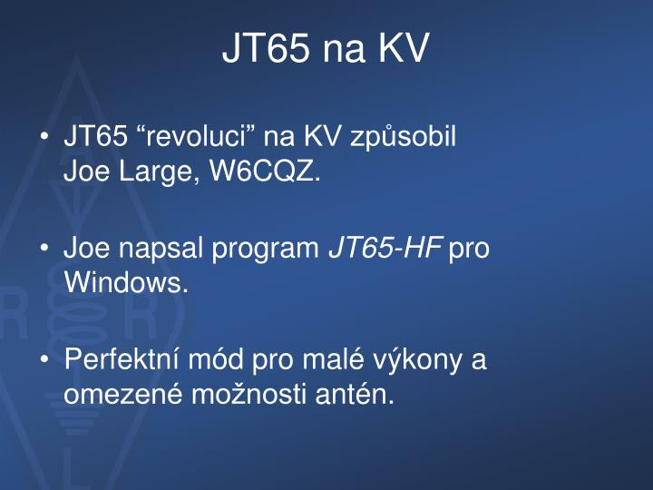 Jt65 na kv