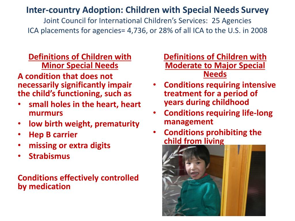 PPT - Inter-country Adoption of Children with Special Needs