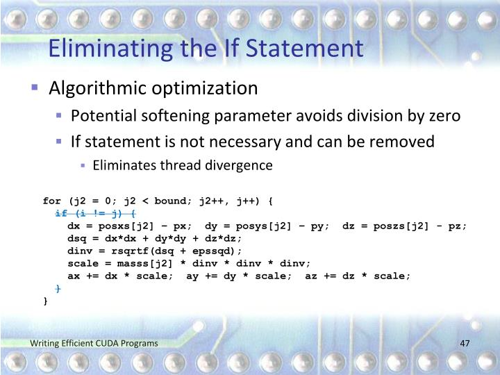 Eliminating the If Statement