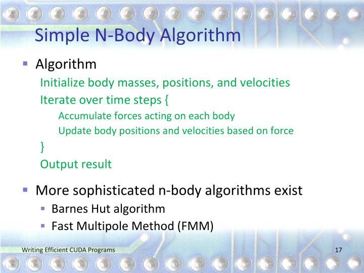 Simple N-Body Algorithm