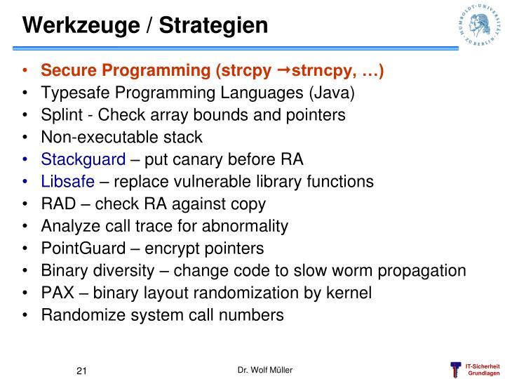 Werkzeuge / Strategien