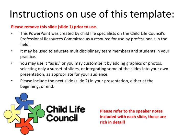 instructions on use of this template n.
