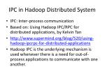 ipc in hadoop distributed system