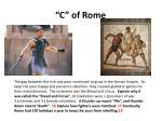 c of rome