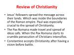 review of christianity