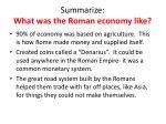 summarize what was the roman economy like