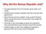 why did the roman republic end