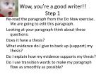 wow you re a good writer step 1