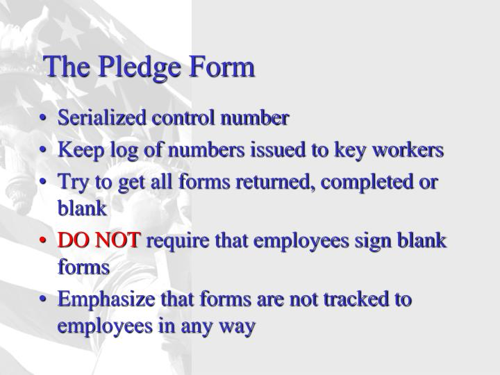 The Pledge Form