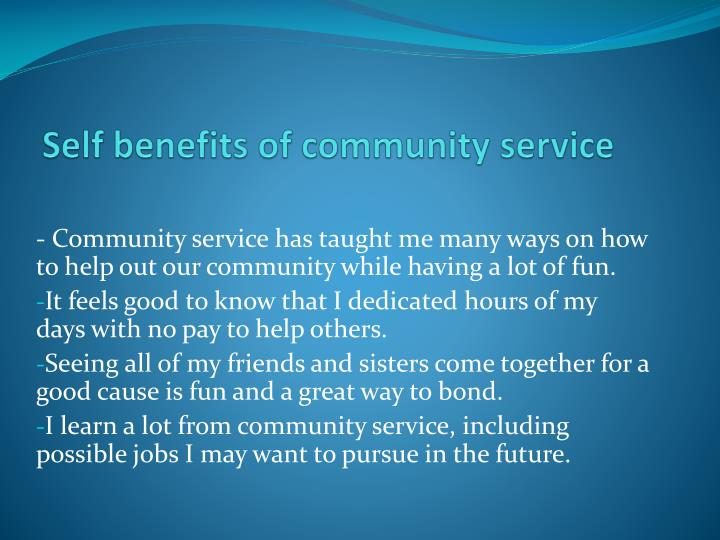 benefits of community service