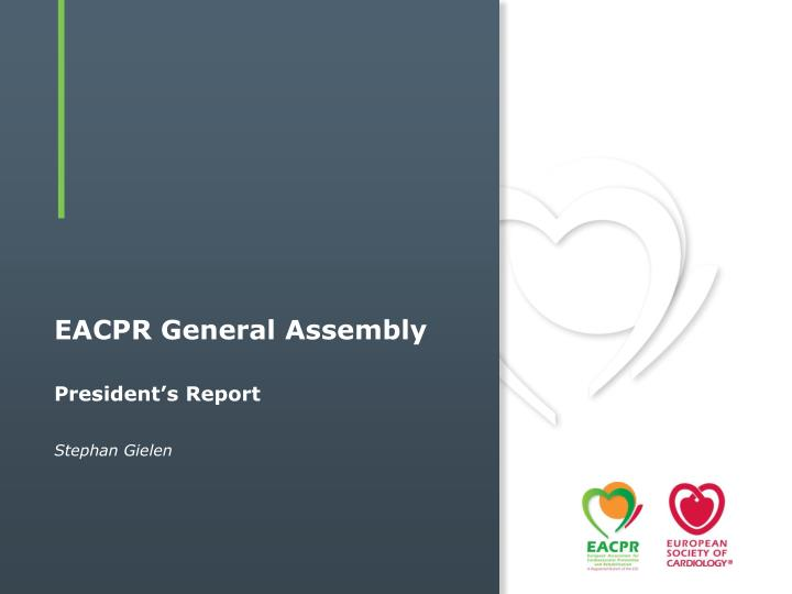 Eacpr general assembly
