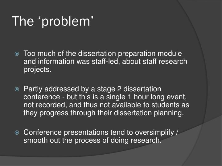 dissertation preparation module