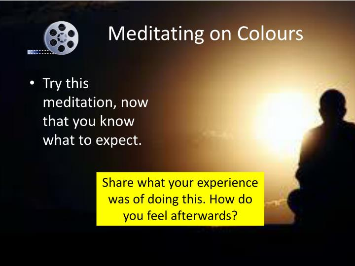 Meditating on Colours