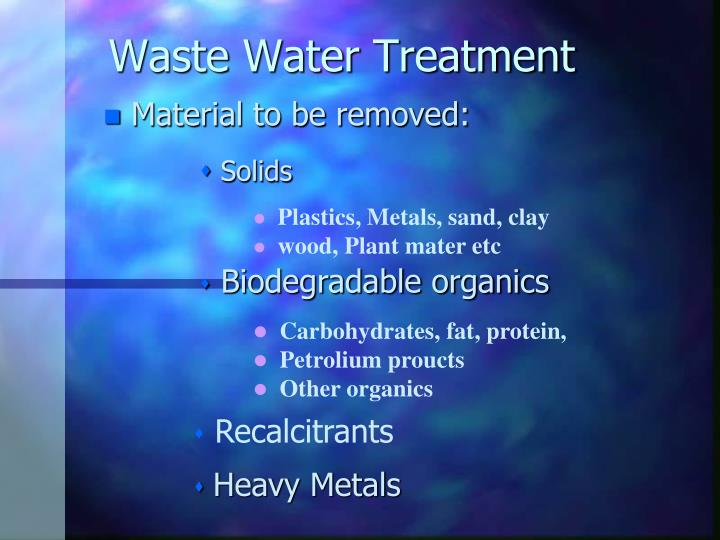 waste water treatment n.