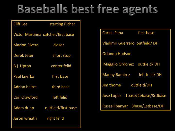 Baseballs best free agents