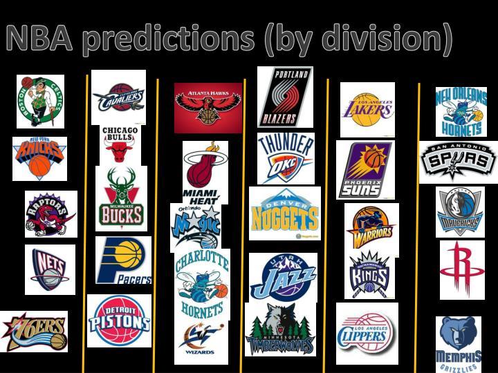 NBA predictions (by division)