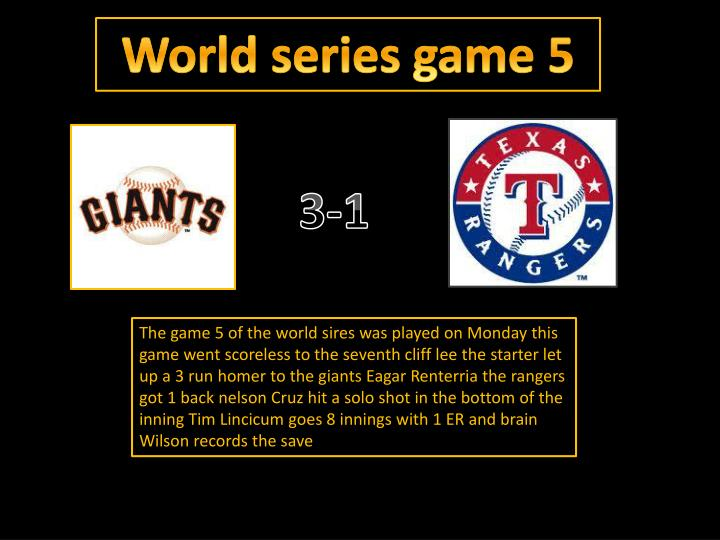 World series game 5