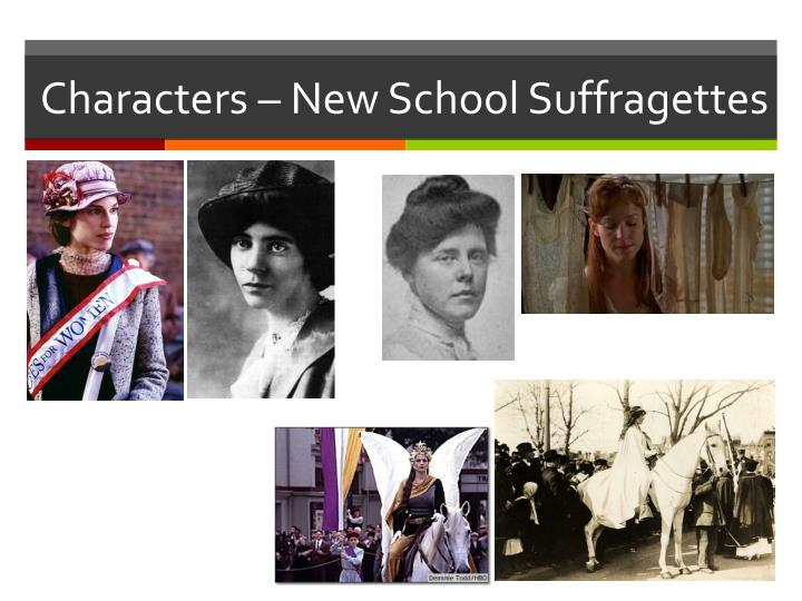 Characters – New School Suffragettes