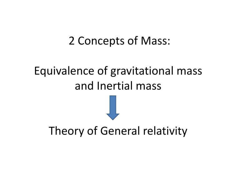 2 Concepts of Mass: