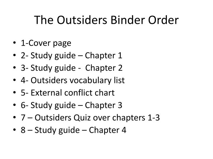 the outsiders summary pg 1 12 Free summary of the outsiders by se hinton chapter analysis, themes, characters & more.
