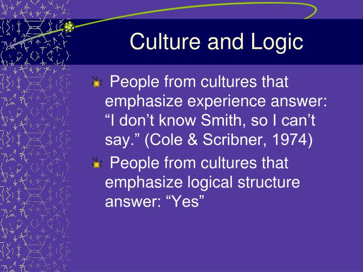 Culture and Logic