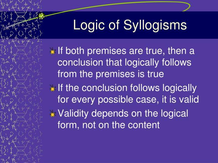 Logic of Syllogisms