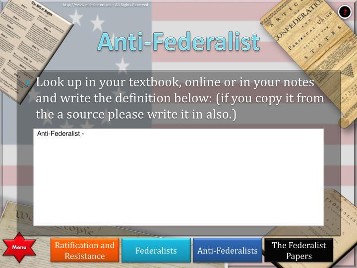 Anti-Federalist