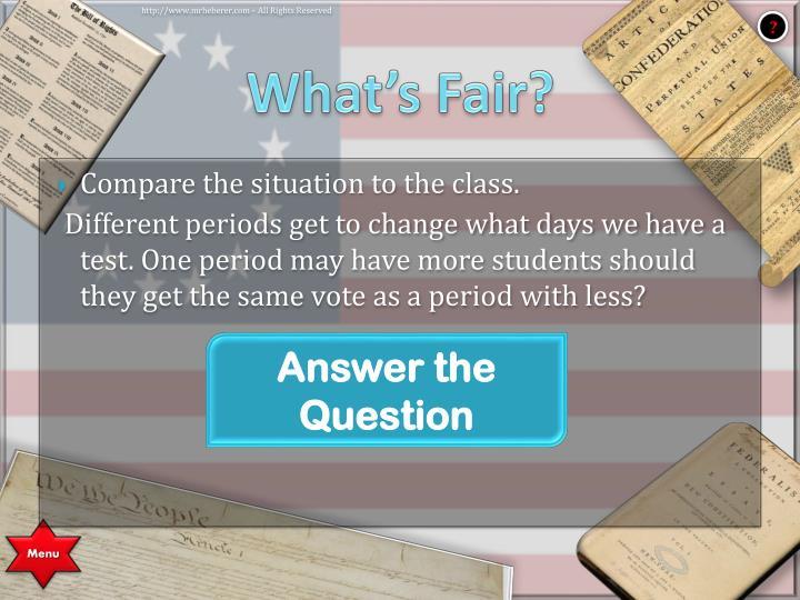What's Fair?