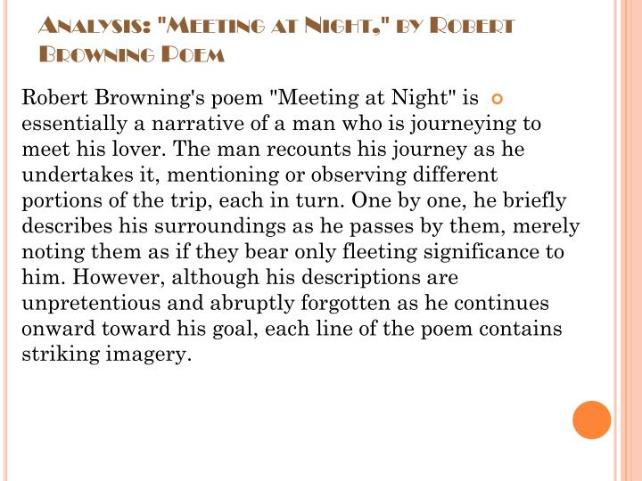 meeting at night by robert browning