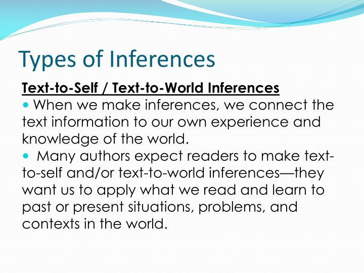 Types of inferences1