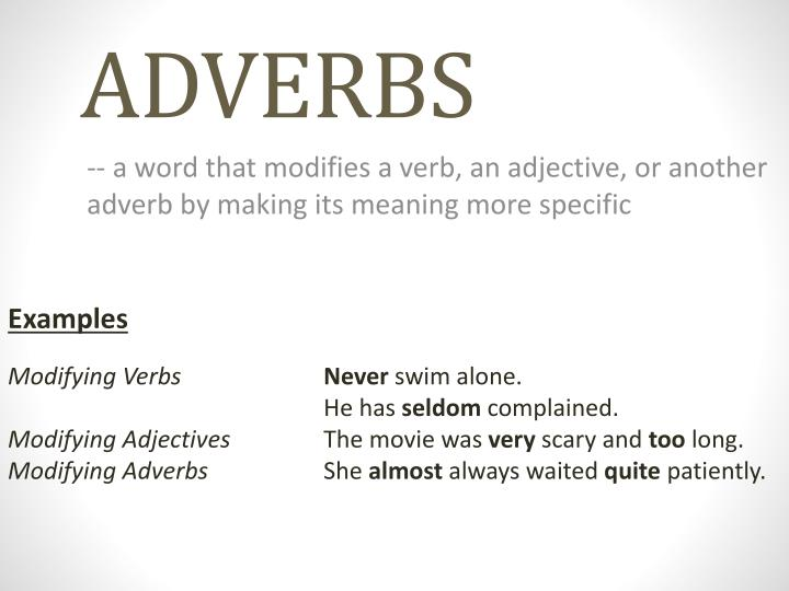 Ppt Adverbs Powerpoint Presentation Id1964046