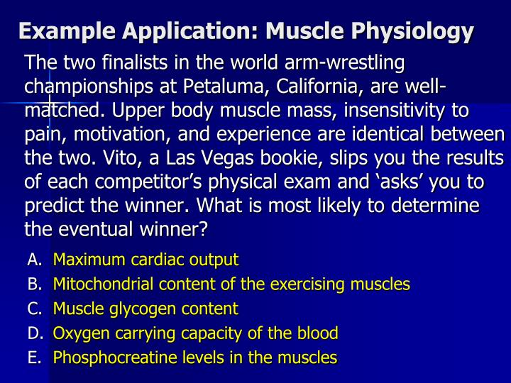 Example Application: Muscle Physiology