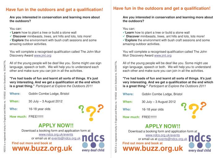 Have fun in the outdoors and get a qualification!