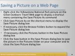 saving a picture on a web page