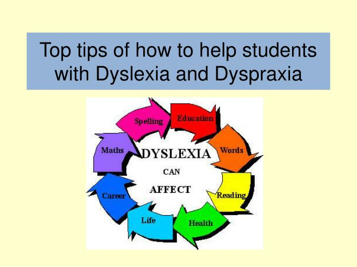 strategies to integrate children with dyspraxia Dyspraxia in secondary schools what is use strategies to help with copying from the board for encouragement and help children with dyspraxia do well.