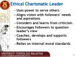ethical charismatic leader