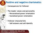 positive and negative charismatics