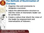 the methods of routinization of charisma