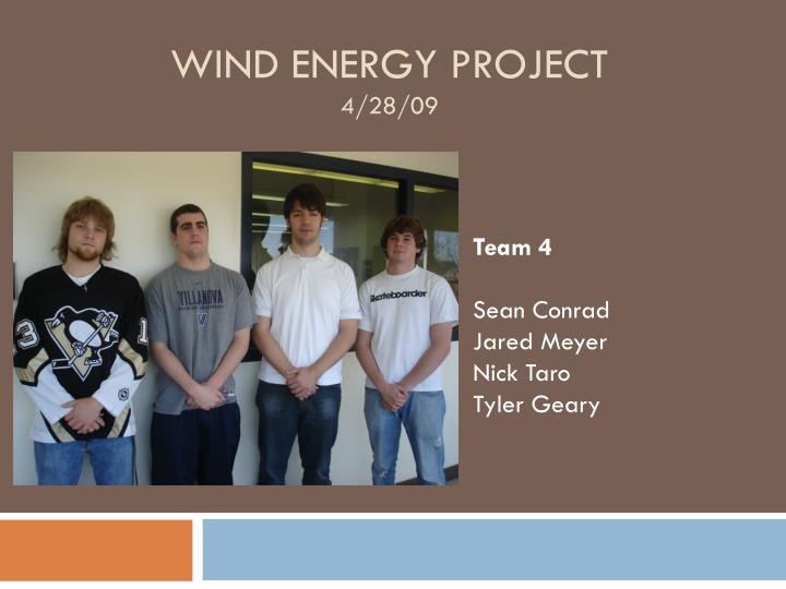 wind energy project 4 28 09 n.