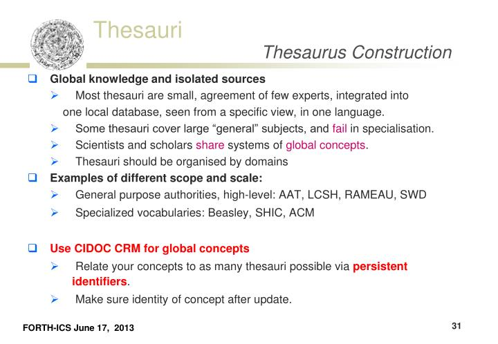 Ppt Thesaurus Building Powerpoint Presentation Id1964973